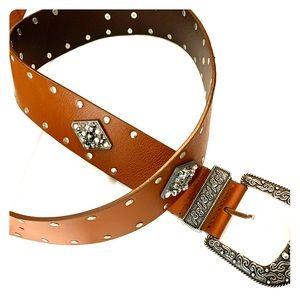 Chico's brown embellished belt